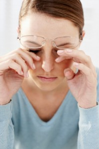 Red, irritated, itchy, puffy, swollen eyes from eye allergies or allergic conjunctivitis