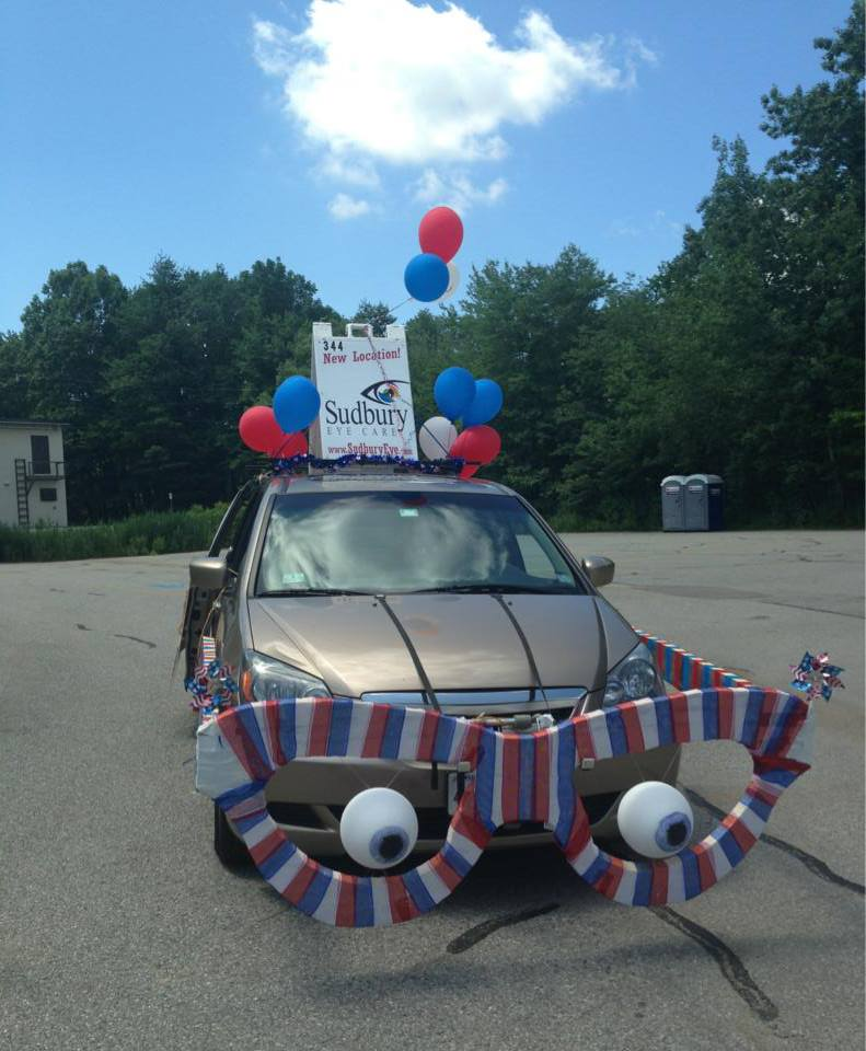 Sudbury Eye Care's Sudbury Eye Car won 3rd place in the 2013 Sudbury July 4th parade float competition!